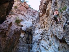 Rock Climbing Photo: First time at the wall and first route, which are ...