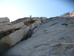 Rock Climbing Photo: Agina Sedler on the first pitch. 9-17-11