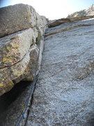 Rock Climbing Photo: Nathan Fitzhugh on pitch 2. 9-17-11