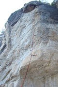 Rock Climbing Photo: Sleeping Giant with a red rope hanging from it's a...