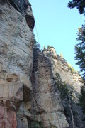 Rock Climbing Photo: The green rope is on Mechanical Animals, 5.12c.   ...