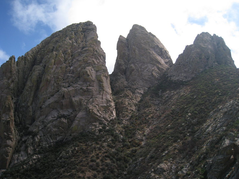 Rock Climbing Photo: All three Rabbit Ears from just below the summit o...