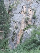 Rock Climbing Photo: HAM is the main splitter crack up the Porkchop Wal...