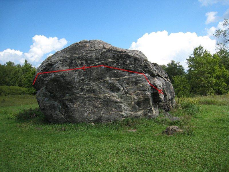 Rock Climbing Photo: West Side Traverse Beta
