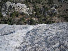 Rock Climbing Photo: looking down p3