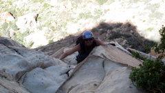 Rock Climbing Photo: Making my way up Frogland in Red Rocks, Nevada.