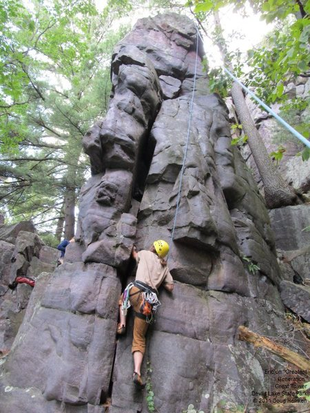 Rock Climbing Photo: Eric heads up.