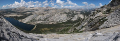 Rock Climbing Photo: Looking down the route up Tenaya midway up the but...