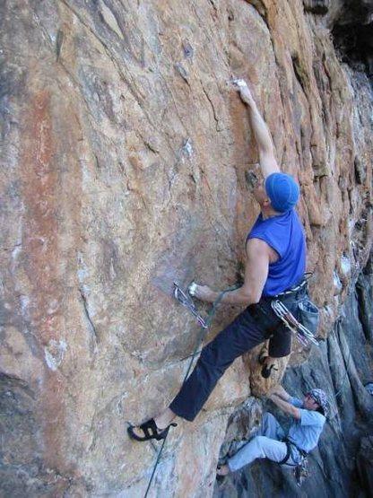 Rock Climbing Photo: Diab Sending the Crux
