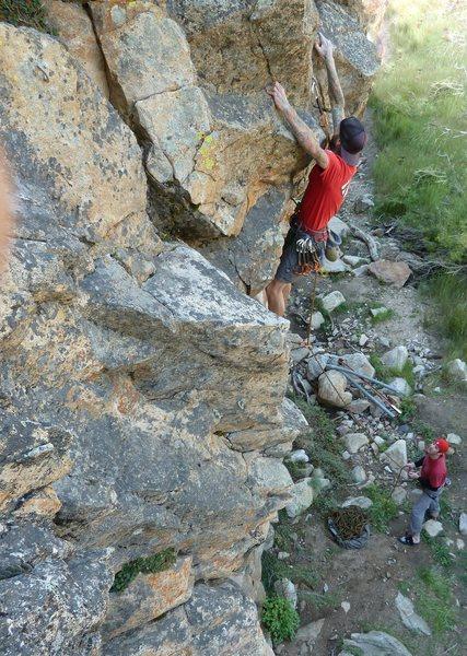 Jason on Community Service (5.10a), 8000 Foot Crag