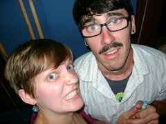 Rock Climbing Photo: Me and my beautiful girlfriend making faces on our...