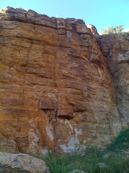 "Rock Climbing Photo: Middle section of the wall. ""Data"" is th..."