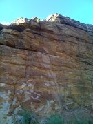 """Rock Climbing Photo: """"Mouth"""" goes straight up from the rock a..."""