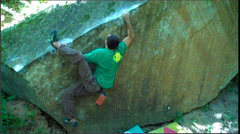 Rock Climbing Photo: The tenous match move getting into the Cannons sta...