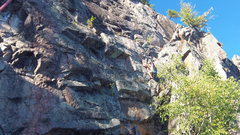 Rock Climbing Photo: Carl on top of the starting inside corner. From he...