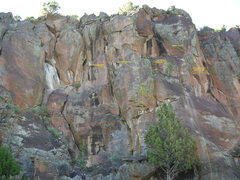 Rock Climbing Photo: Left most area of Hero Wall. There is a large juni...