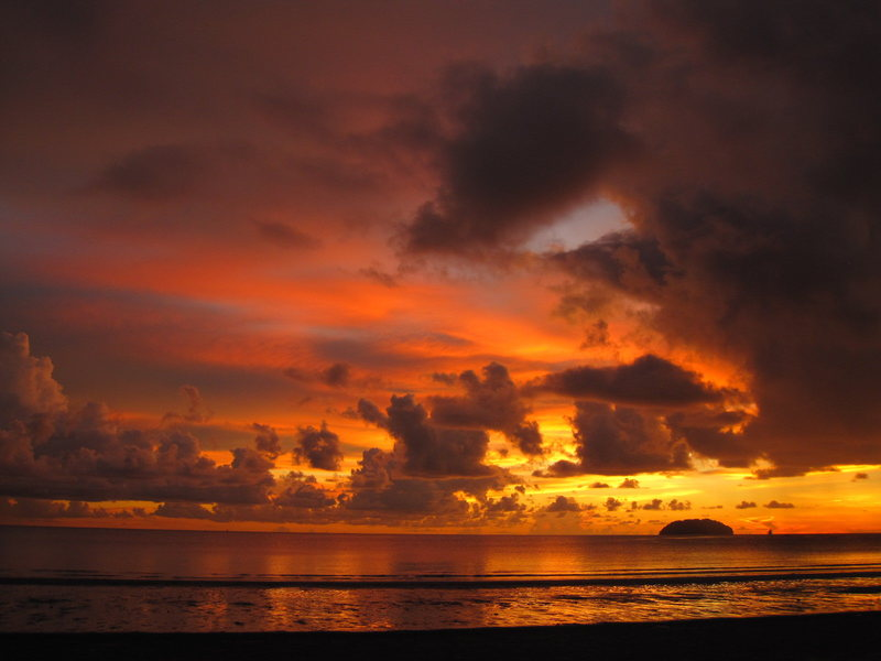 Sunsets in Borneo are unforgettable!