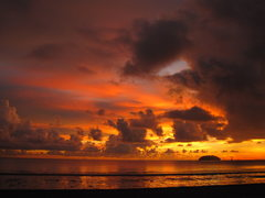 Rock Climbing Photo: Sunsets in Borneo are unforgettable!