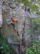 Rock Climbing Photo: Mike L on Coup d'Etat.  Sept 2011.