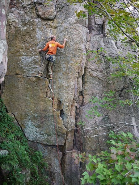 Rock Climbing Photo: Shot #2, Mike L on Coup d'Etat.  Sept 2011.