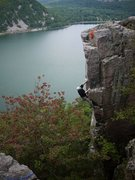 Rock Climbing Photo: Greg, SOGC, onsight, sept 2011.  Photo Rob de la R...