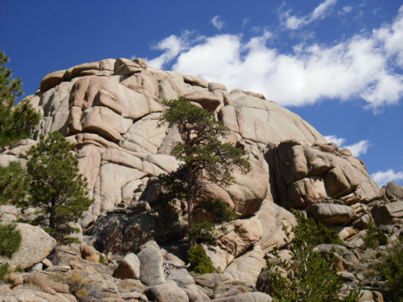 Rock Climbing Photo: I believe this is the Troll Wall area at Dome Rock...