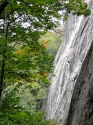Rock Climbing Photo: Technical climbing above the gear.  Photo: Britt C...