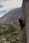 Rock Climbing Photo: Sean down low on Stone Cold Fusion. [look at his s...