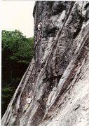 Rock Climbing Photo: Buddy Price on Belay with Myself starting P2 on Pa...