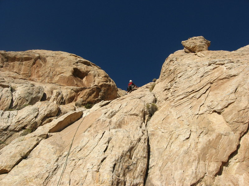 Rock Climbing Photo: On P2