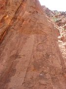 Rock Climbing Photo: The Climb. One can view the four bolt placements i...