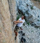 Rock Climbing Photo: Leading delusions, photographed from the top of Go...
