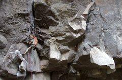 Rock Climbing Photo: Laughlin crankin'.