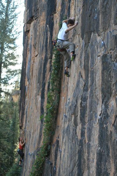 Rock Climbing Photo: Dustin English enjoying Mild Hops, Misty McDonald ...