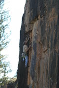 Rock Climbing Photo: Alex Scott near the finish.
