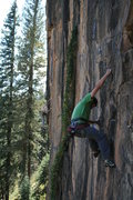 Rock Climbing Photo: Todd Tumolo with Alex Scott in background climbing...