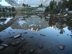 Rock Climbing Photo: A reflection of the North Buttress, Mt Goode in Ma...