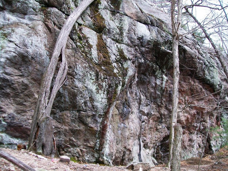 Rock Climbing Photo: Sister of Mercy on the left, Mother Superior on th...
