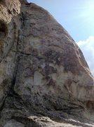 Rock Climbing Photo: Fall line of Swiss Cheese