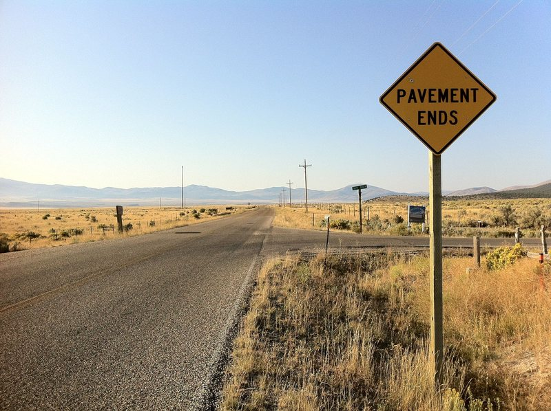 Rock Climbing Photo: Almo, ID...Where the pavement ends and the West be...