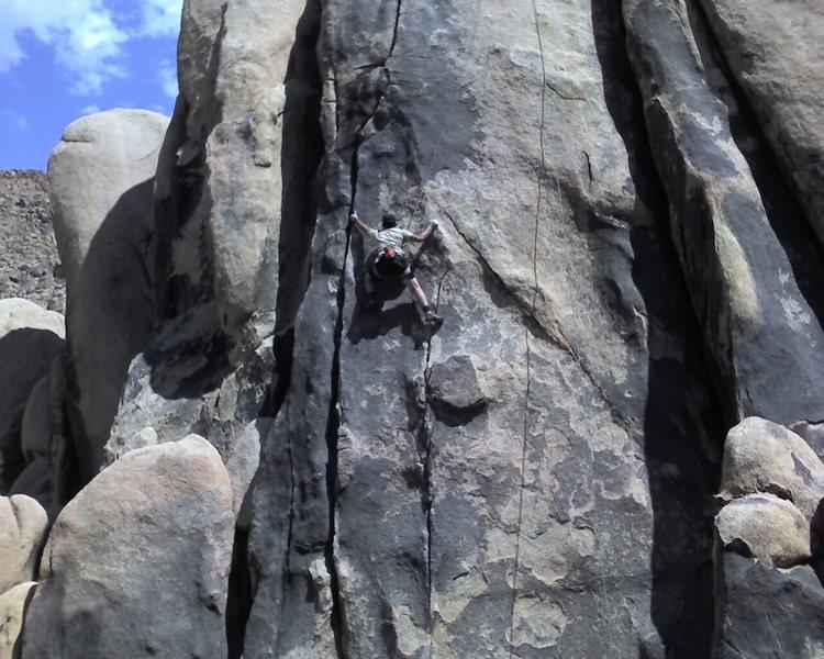 Rock Climbing Photo: Transfering to Crack Dream