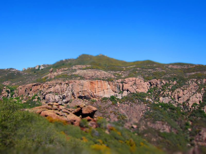 Rock Climbing Photo: Echo Cliffs from the Mishe Mokwa approach trail.
