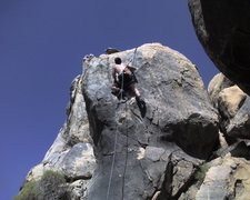 Rock Climbing Photo: Just above the crux