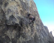 Rock Climbing Photo: Moving up the edges.