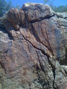 "Rock Climbing Photo: Middle/Upper section of ""Upper Hand Rail&quot..."