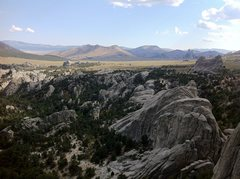 Rock Climbing Photo: Looking South from atop Morning Glory Spire
