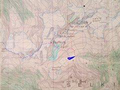 Rock Climbing Photo: MELVILLE GROUP 1961 Westfall Map contours 100 feet...