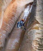 Rock Climbing Photo: Canyoneering through Birch Hollow outside of Zion ...
