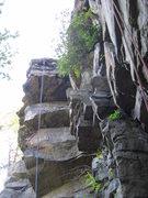 Rock Climbing Photo: The three roofs of Monkey's Fist.