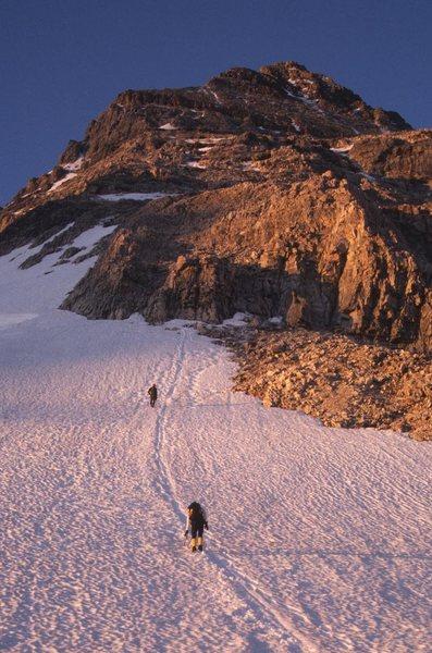 Approaching the N ridge itself.